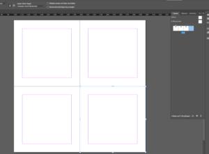 Seiten übereinander stellen in InDesign